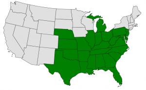 Pawpaw map