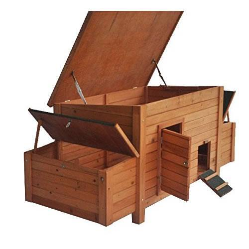 ChickenCoopOutlet 71 Deluxe Large Solid Wood Chicken Coop