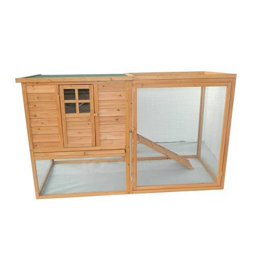 Pawhut 64 Chicken Coop Hen House w Nesting Box and Outdoor Run