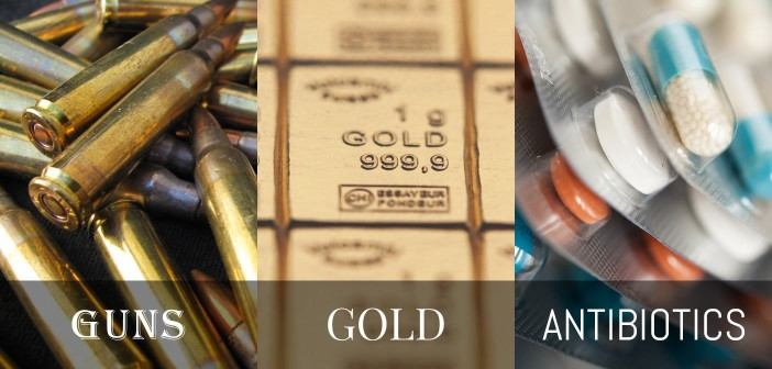 guns gold and antibiotics
