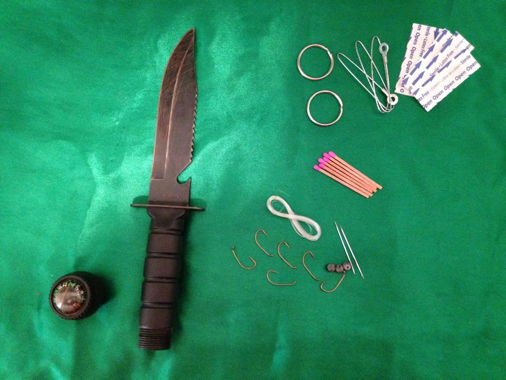 Survival Knife Opened